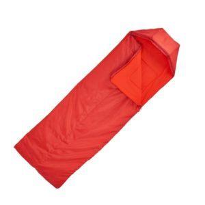 Спальный мешок Quechua Forclaz 10 красный в разложенном виде