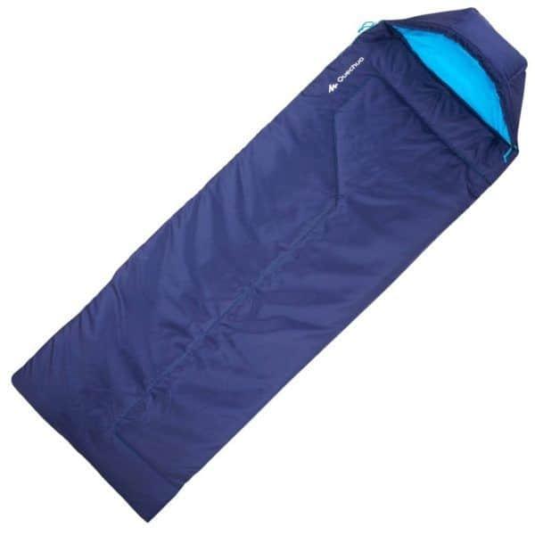 Спальный мешок Quechua Forclaz 10 синий в разложенном виде