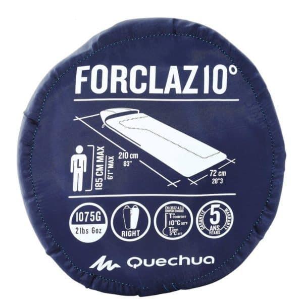 Спальный мешок Quechua Forclaz 10 синий в сумке