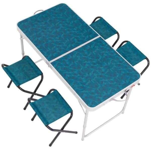 Стол с табуретами на 4 человек Quechua вид сверху
