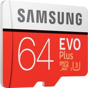 Карта памяти Samsung EVO+ microSDXC 64GB